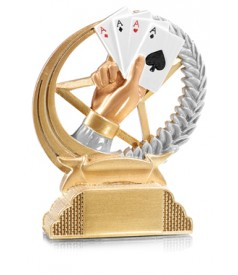 Trofeo Resina Cartas Poker