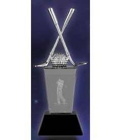 Trofeo Cristal Golf 3d