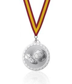 Medalla Fútbol Plata