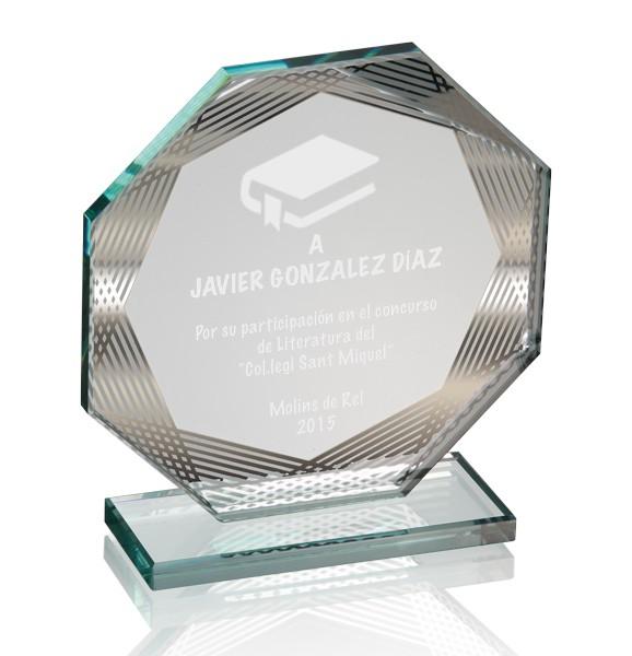 Trofeo de Cristal y Espejo